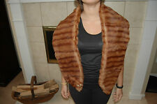 """Stunning Stripped Mink Fur  Scarf , Cape, Wrap, 60"""" Long and 8"""" Wide."""