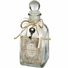 FRENCH VINTAGE STYLE GLASS PERFUME BOTTLE WITH KEY HOME DECOR NEW GIFT IDEA