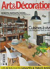 ART & DECORATION FRENCH MAGAZINE MARCH 2013,ROBOTS,FAITOUTS, WOK,50 TAPIS STYLE.