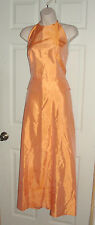 ALFRED ANGELO ORANGE HIGH NECKLINE FORMAL GOWN DRESS PEPLUM SIZE 3/4 PROM FULL