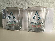 BNIB Genuine Assassins Creed Merchandise Set of 2 Boxed 285ml Spirit Glasses