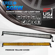 52inch 500W Cree Led Light Bar Spot Flood Combo Off road Driving Work 12V24V 54""