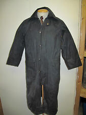 "Barbour Burghley Waxed jacket coat - XS 34"" Euro 44 or UK 10 in Blue"