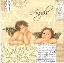 4single paper decoupage napkins. Angel, angels, gold, classic design-377