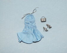 FASHION FEVER Baby Blue w/ Silver Accents Genuine BARBIE Sleeveless Dress Heels