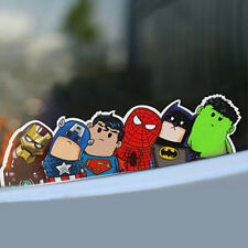 2x Cute Crooked Neck Super Hero Bumper Windshield Car Reflective Stickers Decals