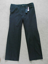 New M&S Grey Slim Leg Black Trousers Sz 18 inside leg 28.5""