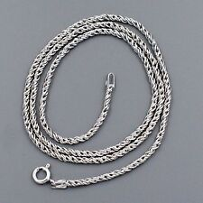 1.6 mm Pure 925 Sterling Silver 18 Inch Solid Necklace Chain Italy Jewelry 01283