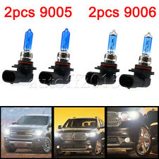 4pcs HID 9006/9005 6000K Xenon White Headlight High/Low Beam Halogen Bulbs 100W
