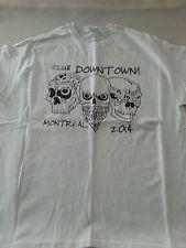 CLUB DOWNTOWN.COM  SKULL MENS SHORT SLEEVE WHITE XL XLARGE COTTON TSHIRT