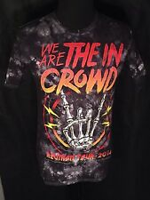 We Are The In Crowd 2014 Reunion Tour Rock Mens Medium M Black Tie-Dye T-shirt