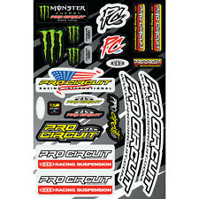 Monster Energy Pro Circuit Aufkleber Kawasaki Set Kit Sticker Suspension Dekor