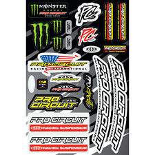MONSTER Energy Pro Circuit ADESIVI KAWASAKI Kit Set Sticker sospensione DECORO