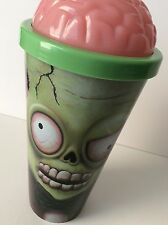 Zombie Brain Skull 32 Oz. Tumbler Drink Cup With Lid And Straw New