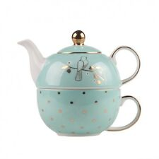 Bombay Duck Miss Darcy Tea for One Set Mint and Gold