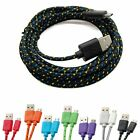 3M Mobile Phone Fabric Braided Micro USB Charger Sync Data Cable Lead F. Samsung