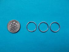 Set of 3 Pink 20g 14 mm  Endless  Hoop  Nose Rings, Ear Rings , Cartilage,..