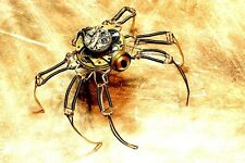 "3.25"" MODERN INDUStRIAL MAN MADE STEAMPUNK SPIDER. Sticker. Laptop, Gothic"