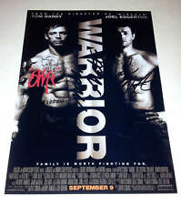 "WARRIOR CAST X2 PP SIGNED 12X8"" POSTER TOM HARDY NICK NOLTE"