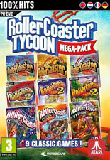 ROLLERCOASTER TYCOON MEGA PACK (PC-DVD) NEW SEALED 9 CLASSIC GAMES