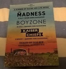 Kaiser Chiefs  promotional postcard/flyer Sandown Park Racecourse  29/7/2015
