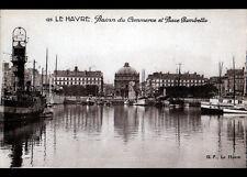 LE HAVRE (76) BATEAUX au BASSIN DU COMMERCE , cliché période 1930