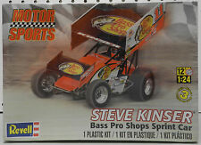 REVELL SPRINT DIRT TRACK STEVE KINSER BASS PRO RACE CAR SEALED SHOPS MODEL KIT