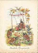 Pfingsten, Maikäfer auf der Schaukel, Insekt, Käfer personifiziert