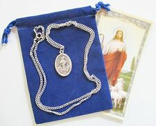 Lovely Our Lady of Medjugorje Saint Medal with 24 Inch Necklace
