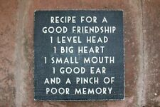 East of India Plaque/Sign 'Recipe for a good....'