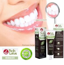 Twin Lotus Charcoal Toothpaste Herbaliste Whitening Teeth Remove Bad Breath 150g