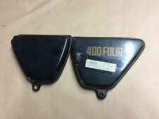Honda CB400F Side Covers with Decals Pair Right Left OEM 400 Four 400Four