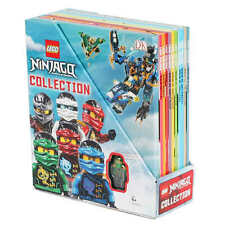 LEGO NINJAGO Collection 10 Books Box Set Childrens with Minifigure NEW