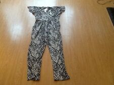 Ladies Black And White Jumpsuit/Catsuit - Angel Paris - Size 10  New