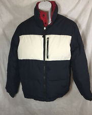 Tommy Hilfiger Mens Down Puffer Puffy Reversible Ski Jacket Size S Colorblock