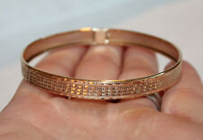 Gorgeous Solid 10K Yellow Gold Bangle Bracelet Etched Designs