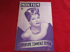 MON FILM  Magazine inc Isa MIRANDA & Victor MATURE   20/10/1948  No 113