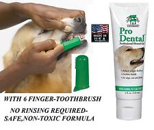 DOG CAT PET PRO Oral Care NATURAL GEL TOOTHPASTE & 6 TOOTHBRUSH*USA MADE Dental