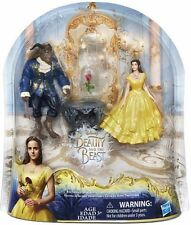 Disney Beauty And The Beast Enchanted Rose Scene Doll Set- Belle and Beast NEW