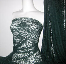 Hunter Green 4 way stretch lace Fabric