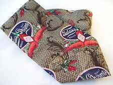 Tabasco Gulf Shrimp Crawfish Novelty Tie Men's Silk Necktie USA Brown