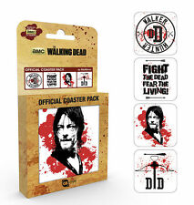 WALKING DEAD DARYL DIXON 4 COASTER SET NEW GIFT BOXED 100 % OFFICIAL MERCHANDISE