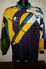 Vintage LOTTO Calcio Italia Soccer Goalie Jersey Size Large l Retro Goalkeeper