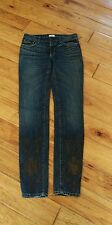 Aiko Jeans With Leather On The Bottom (NOT SILVER AIKO) Size 28 Inseam 32
