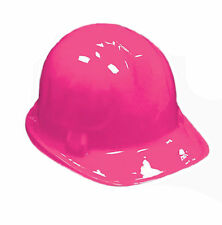 6 Pack Kid's PINK Plastic Construction Hard Hat Party Costume Accessories