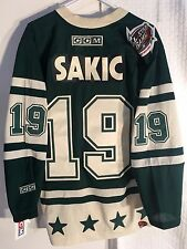 CCM Classic NHL Jersey Avalanche Sakic Green Western AllStar sz M