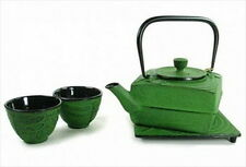 Japanese Cast Iron Teapot Tea Set Dragonfly #ts6-06lg S-2096