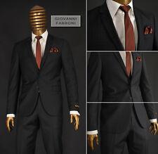 *140* 5-teiliger karierter Herrenanzug - Anzug in Braun Gr.48