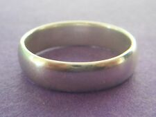PLAIN DESIGN STERLING SILVER WEDDING RING / BAND. - SIZE P. - NOT SCRAP  - 925