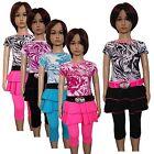 New Girls Tunic/ Dress /Top,Leggings& Belt 3 Piece Set /Summer Outfit 2-12ys #79